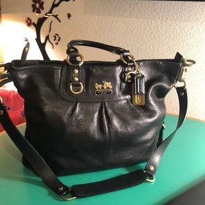 Coach Large Black Leather Shoulder Bag